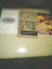 3-Assorted Calories and Nutrition Booklets, Calorie Counter