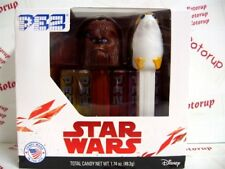 PEZ twin boxed set of Star Wars Wookie Warrior and Porg with 6packs PEZ candy