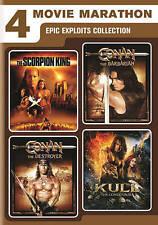4-Movie Marathon: Epic Exploits Collection (DVD, 2016, 2-Disc Set)+Red Sonja