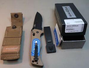 Benchmade 275SBKSN Adamas Partially Serrated Folding Knife - Black/Tan