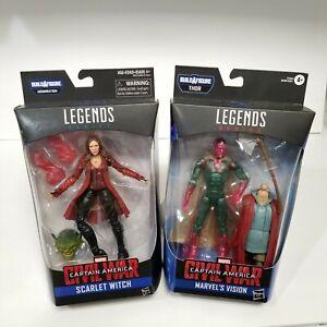 Marvel Legends Scarlet Witch and Vision Civil War Wanda Vision set of 2