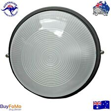 Bunker Light Black Round Outdoor bulkhead Diecast Aluminium/Glass LED Compatible