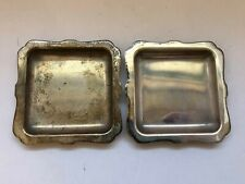 Vintage Cartier Sterling Silver Pair Of Ashtrays