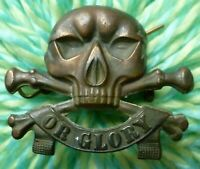 17th/21st Lancers (Death or Glory) Regiment Cap Badge BRONZE SUPER Antique ORG