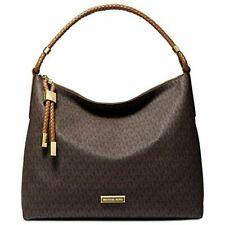 👜NWT Michael Kors Lexington Large Leather Shoulder Bag Brown