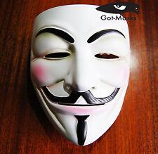 Quality V For Vendetta Resin Mask Fancy Dress Costume Bonfire Party