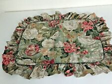Thomasville Home Furnishings Standard Ruffled Floral Pillow Sham Cottage Chic
