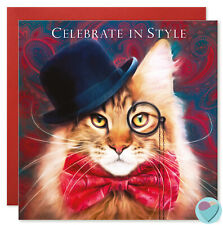 Father's Day Card CELEBRATE IN STYLE to or from Maine Coon Tabby Cat lovers