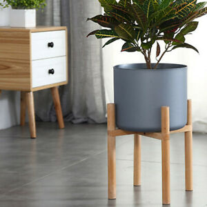 """10""""-12"""" Potted Plant Stand Wooden Flower Pot Rack Display Planter Holder Indoor"""