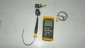 Fluke 52 II Thermometer Digital Dual-Input Temperature Meter W/ extras