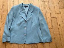 Alexon Ladies Pale Blue Lined Size 16 Long Sleeve 3 Button Jacket