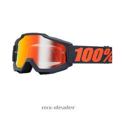 100% ACCURI ESPEJO Motocross MX Cruz Gafas Gunmetal BMX MTB