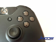 Xbox One 1 Custom ABXY Buttons with Letters Mod Kit (Black)