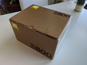 Nikon D800 D800E retail box with LCD cover, manual (NO CAMERA)