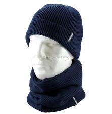 Cappello Invernale Uomo Donna + Scaldacollo CHARRO zuccotto BLU lana