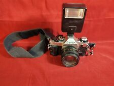 Canon AE-1 Film camera with Canon Speedlight 155A Vintage