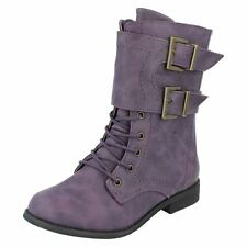 ** Spot on H5025 Girls Purple Synthetic Casual BOOTS UK 1