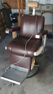 Takara Belmont barber chair on a Electric base instead of Hydraulic base
