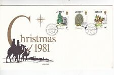 Jersey 1981 Christmas FDC with enclosure VGC Unaddressed