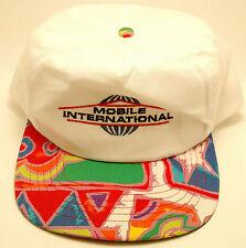 MOBILE INTERNATIONAL Trucker Rainbow Snapback OSFA Hat Cap White Colorful