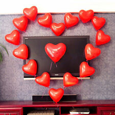 "100pcs 12"" Color Heart Shaped Latex Balloons Wedding Birthday Party Decor"