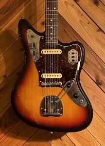Fender Jaguar JG66 3TS Electric Guitar with Soft Case from Japan [FedEx]