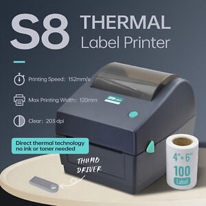 【HOTLabel Upgraded】Label Printer Thermal Shipping Address Barcode 150mm*100mm