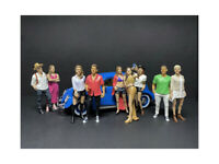 """""""Partygoers"""" 9 piece Figurine Set for 1/18 Scale Models by American Diorama"""