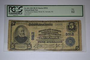 Newark, NJ - $5 1902 Plain Back Fr. 601 The Broad & Market NB & TC Ch. # 9912.