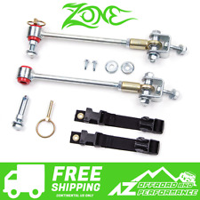 """Zone Offroad 3-4.5"""" Front Sway Bar Disconnects fits 97-06 Jeep Wrangler TJ / LJ"""