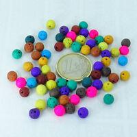 65 Bolas Lava Volcanica 6mm T261H Colores Variados Lave Perline Perles Perlen