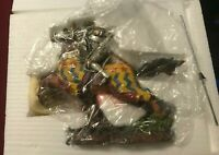 """Veronese Knight on Horse Figurine Summit Collection 2002 Hand Painted W U 8"""""""