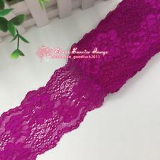 1 yard, Flower Stretch Lace Trim Ribbon Elastic lace Sewing Handicraft DIY FL158