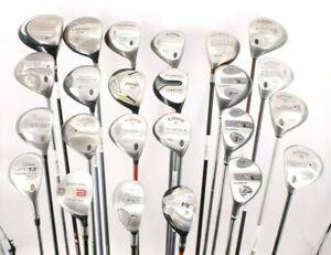 Lot of 24 Various Golf Club Woods Cobra Titleist Callaway Ping Adams Sonartec