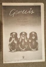 Genesis Keep it dark tour 1981 press advert Full page 28 x 39 cm mini poster