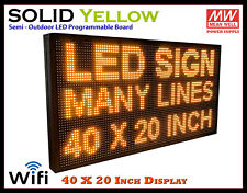 40x20 Inch Yellow Wifi Semi Outdoor Indoor Led Scrolling Sign Super Fast Ship