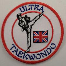 Martial Arts Embroidered Sew On Uniform Patch Ultra Taekwondo