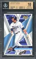 Evan Longoria Rookie Card 2008 Upper Deck X #94 Tampa Bay Rays (Pristine) BGS 10