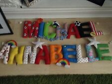 Personalised Letters Fabric/Felt Nursery Baby Childs Bedroom Name Banner Bedroom