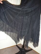 NEW BLACK FLOATY SEXY SKIRT. GEORGE. SIZE 18 GOTH ROCK PUNK PARTY HOLIDAY STEAM