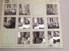 YVETTE HORNER : PLANCHE CONTACT ORIGINALE DE 1962 : 10 PHOTOS  6x6cm