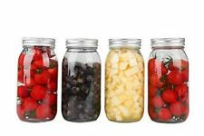 24oz/680ml Glass Mason Jar/Bottle Juice&Nut&Spice Jar with Metal Lid set of 4