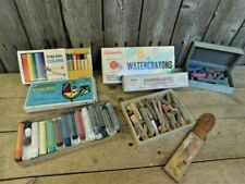 Vintage Artist Soft Pastels Large Mixed Lot Art Supplies