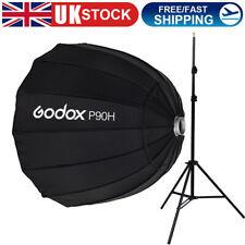 Godox P90H 90cm Parabolic Softbox Reflector&2M Light Stand For Flash Speedlite