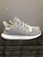 Used Adidas Originals Men's Tubular Running Shoes US 10M, White/Grey