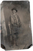 Billy The Kid famous Historical 3 Million Dollar sixth-plate dark tintype C712S