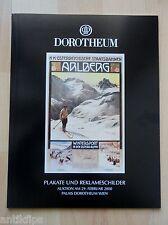 Auktionskatalog Dorotheum Wien Plakate und Reklameschilder 29.02.2000