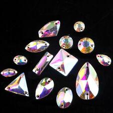 Sew On Rhinestones Crystal AB Glass Beads Flatback White Stones for Dress Making