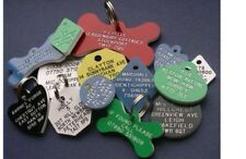 Pet Dog Cat ID Collar Tags Engraved/Personalise 20mm Plastic Disc. 7 COLOURS