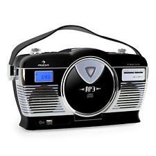 Occasion Poste Radio Vintage noire Auna Rcd-70 chaine Lecteur USB Mp3 reveil